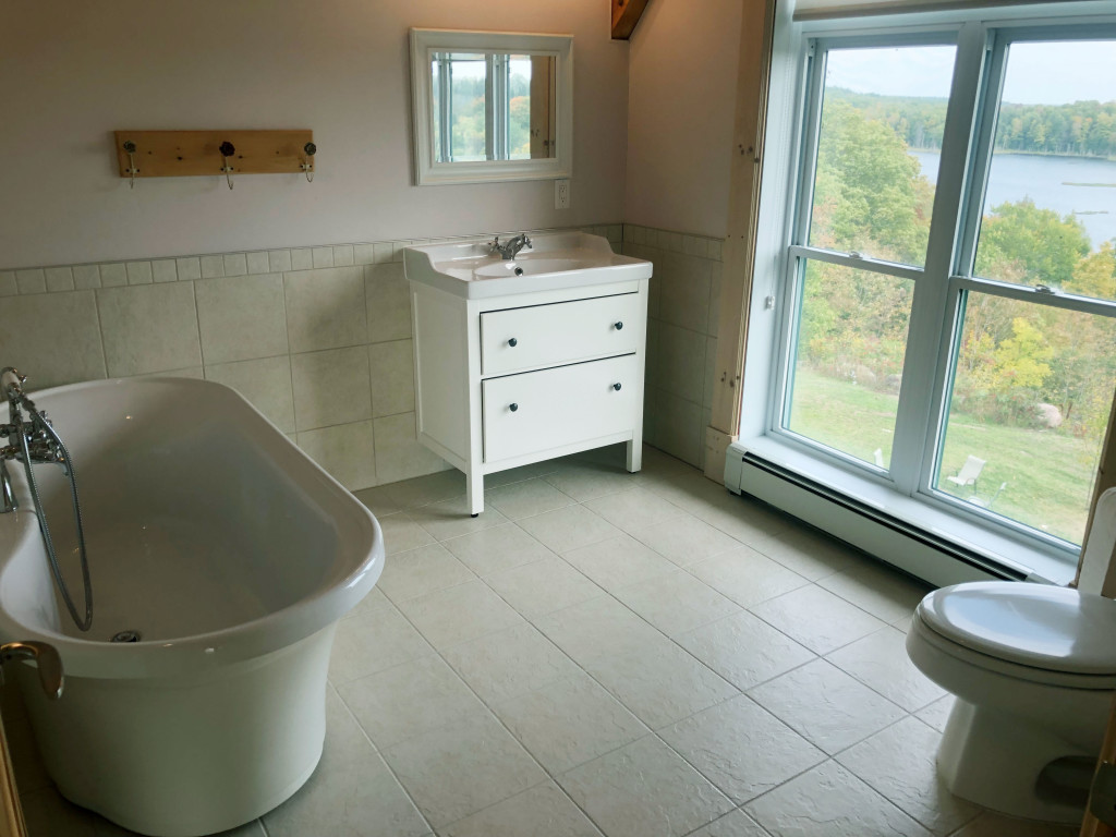 Bathroom with large tub
