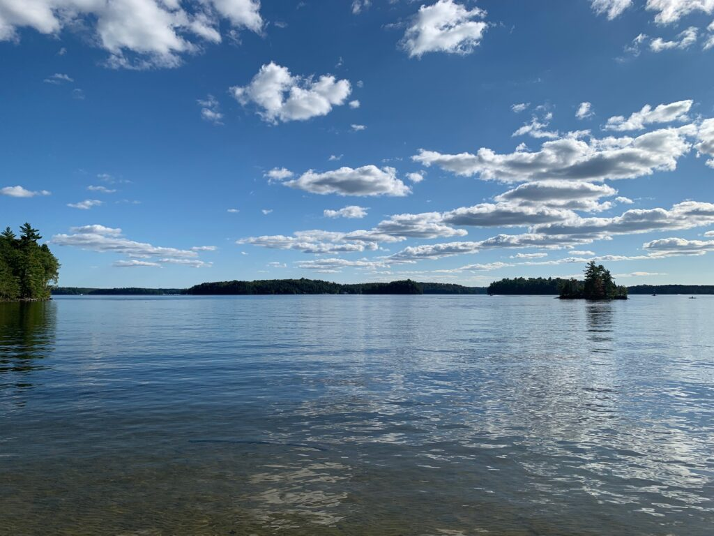 View out across Lake Rosseau
